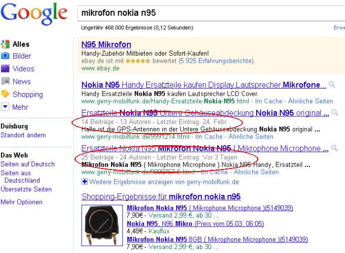 Google erkennt Kunden Kommentare